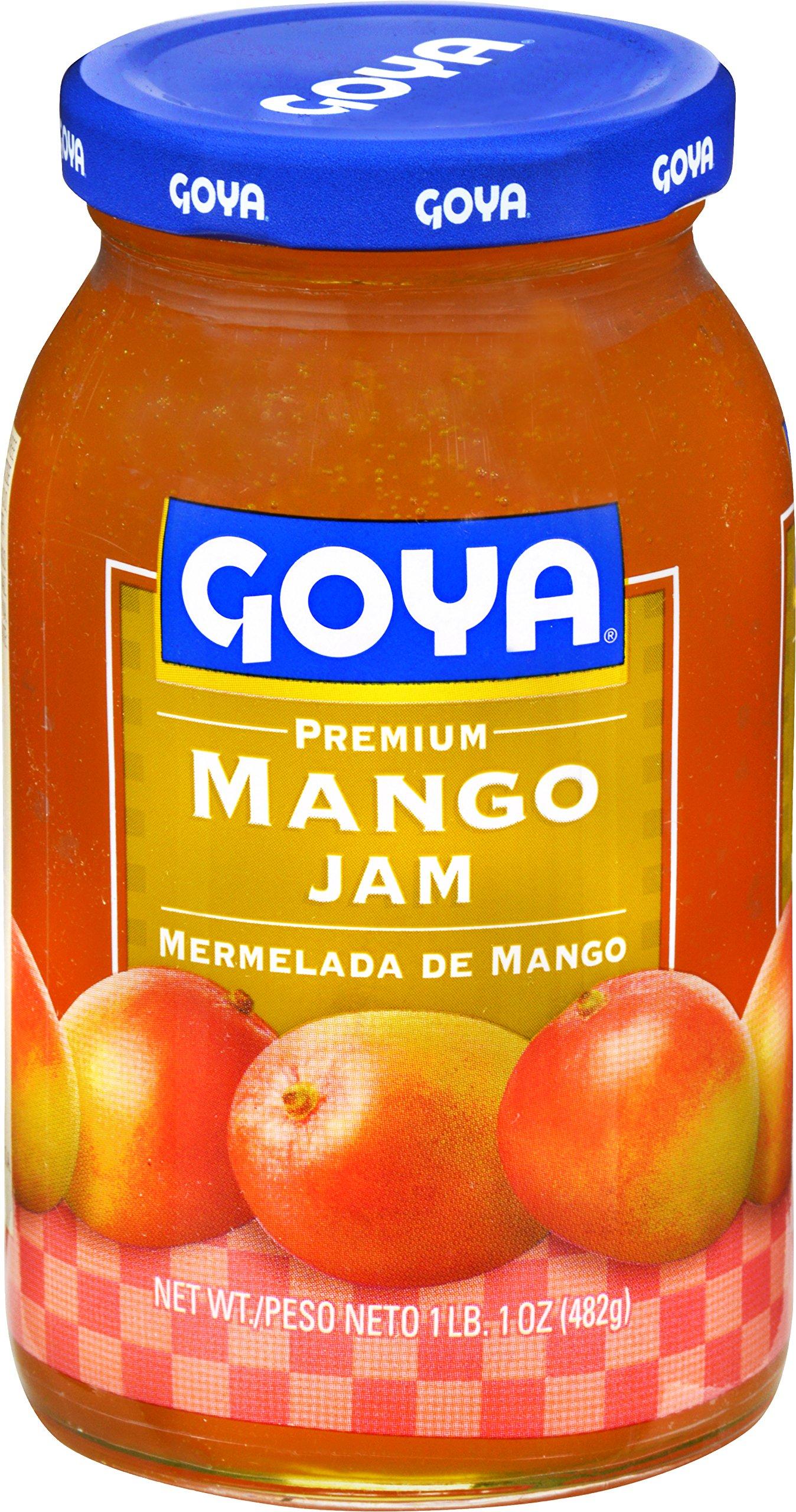 Goya Foods Premium Mango Jam, 17 Ounce (Pack of 12)