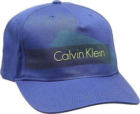 Calvin Klein Cole Baseball Cap Gorra de béisbol, Azul (Monaco Blue ...