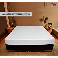 """SleepX Water Proof Soft Terry Cotton Mattress Protector - 72"""" x 36""""/ 183cm x 91.5cm, Single Size, White"""