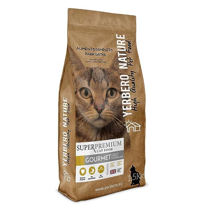 Yerbero NATURE gatos GOURMET pienso muy apetente de calidad superpremium 1,5kg