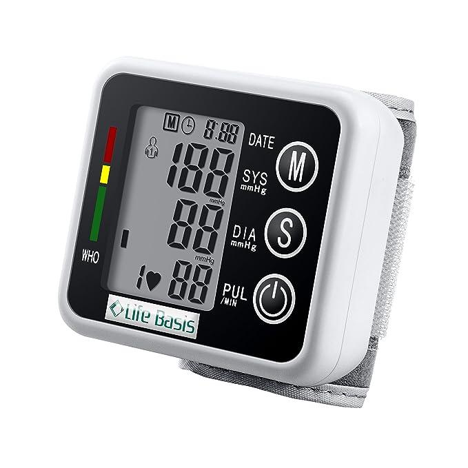1 opinioni per LifeBasis Sfigmomanometro da Polso misuratore di pressione arteriosa- Nero
