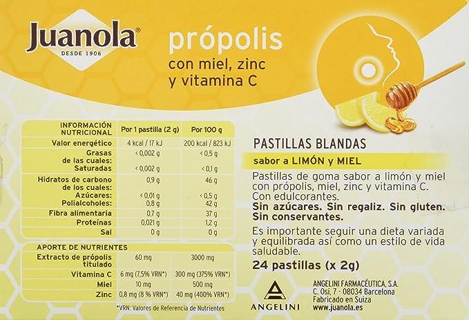 Juanola Propolis Mielvitc, 24 Pastillas de Goma: Amazon.es: Salud y cuidado personal