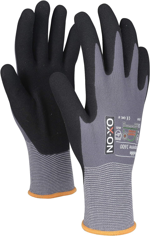 OX-ON Stone Arbeitshandschuhe weiche Lederhandschuhe mit Spandexrücken Gr 9-12