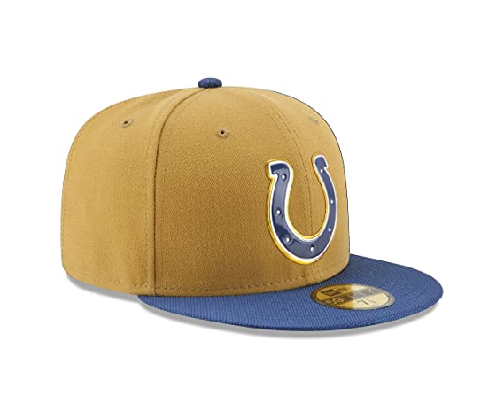 low priced c95c9 e08a5 NFL Indianapolis Colts Gold Collection 59FIFTY Fitted Cap, Size 734, Gold  Crown, Baseball Caps - Amazon Canada