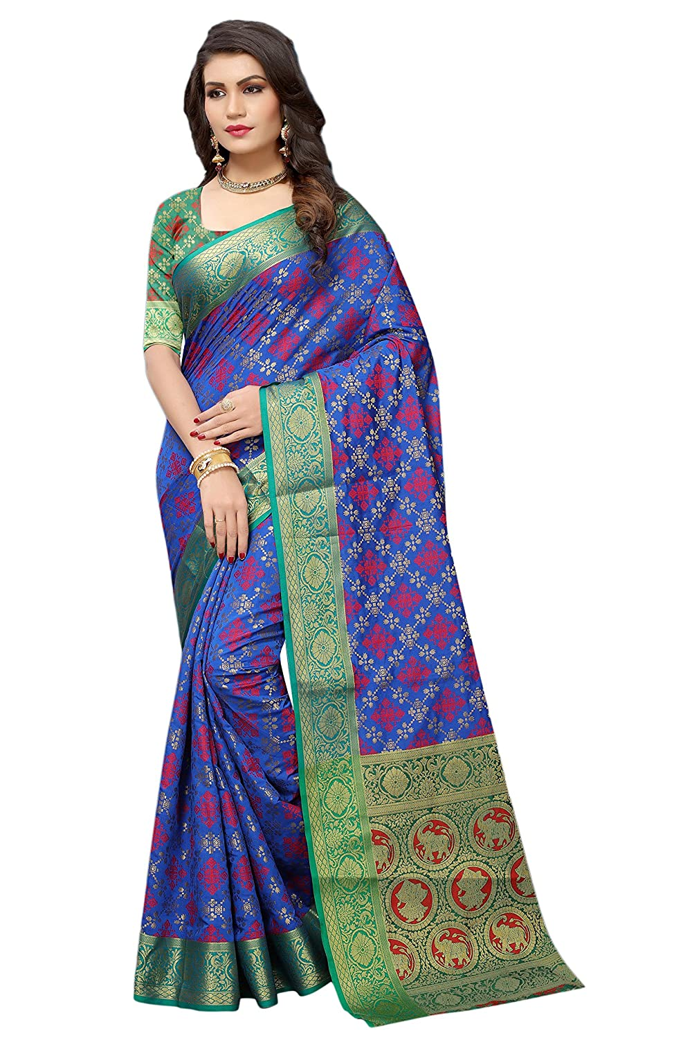 KIMANA Indian Designer Ethnic Bollywood Traditional Banarasi Silk Saree Sari S3093 51003093