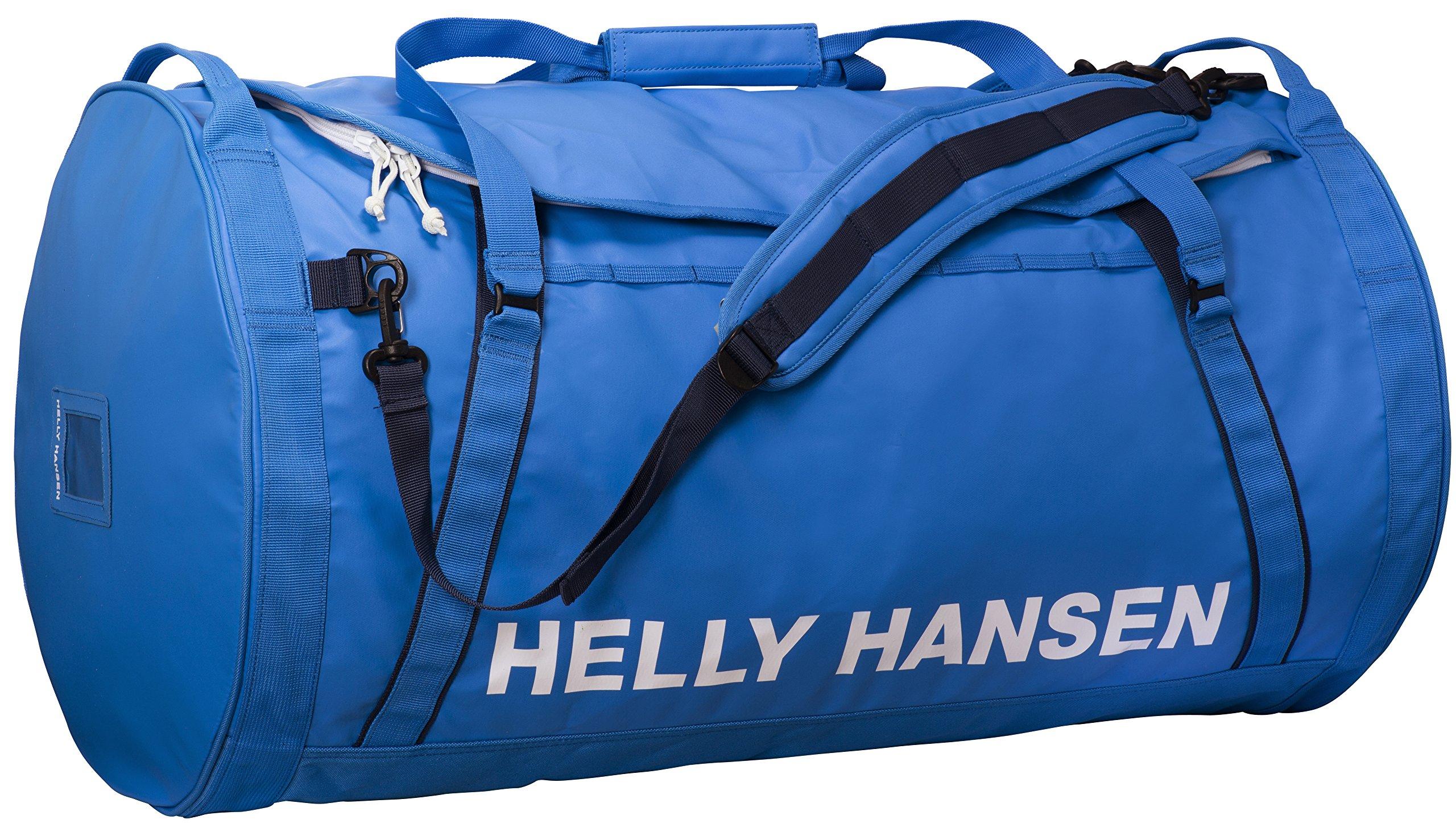 Helly Hansen Duffel 2 Water Resistant Packable Bag with Optional Backpack Straps, 70-liter (Meduim), 535 Racer Blue