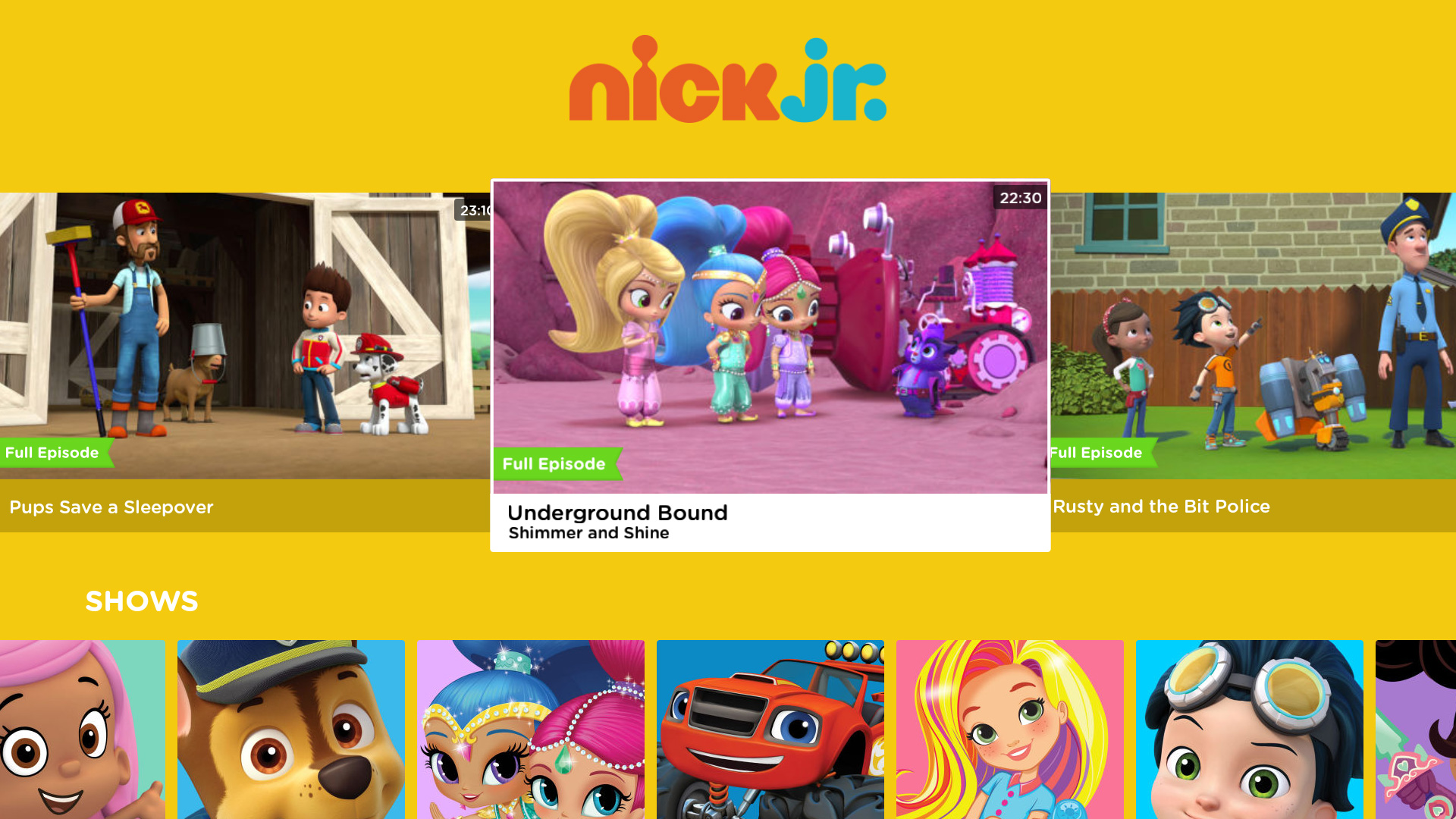 Large Product Image of Nick Jr. for Fire TV