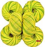 Vardhman Baby Soft Wool (Multi Green) - Pack of 6
