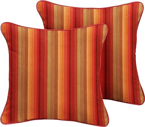 Mozaic Company AMPS111207 Indoor Outdoor Sunbrella Square Pillow