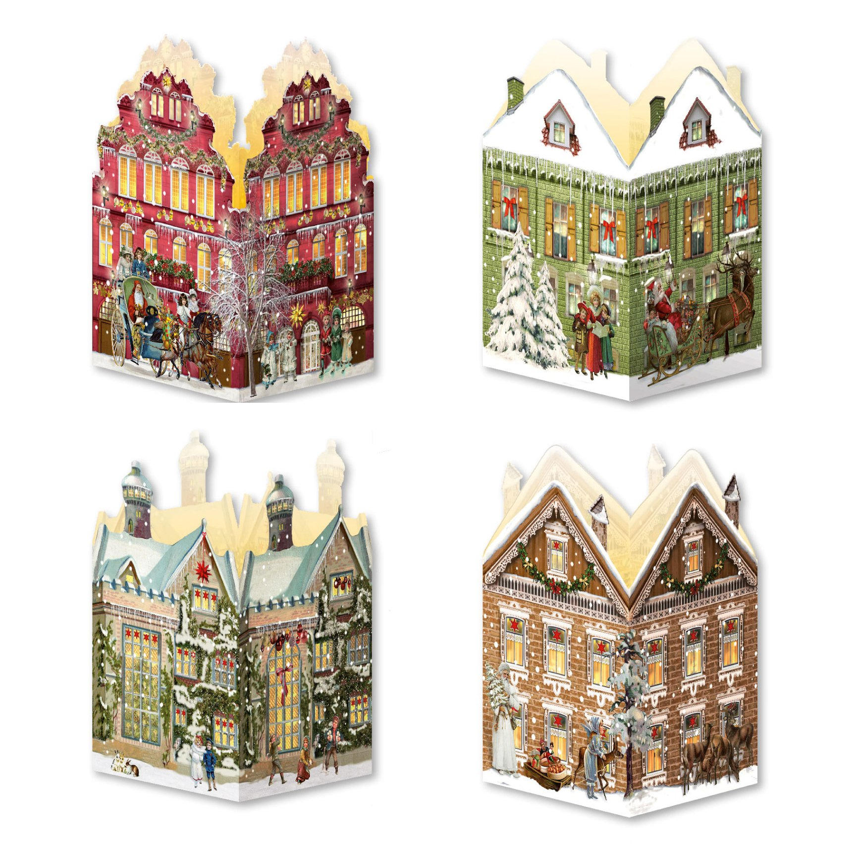 Coppenrath Unique Advent Christmas Lantern - Tiny Christmas House- Premium Made in Germany - Watch the House Light Up
