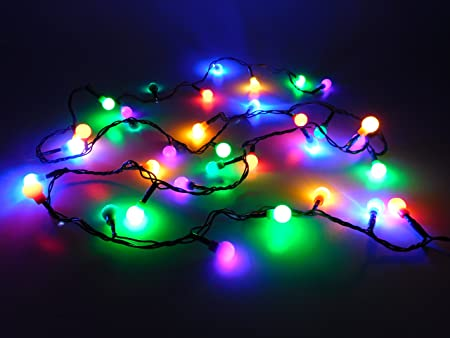 Christmas Concepts 35 Multi Colour Led Berry Lights With 3m Green
