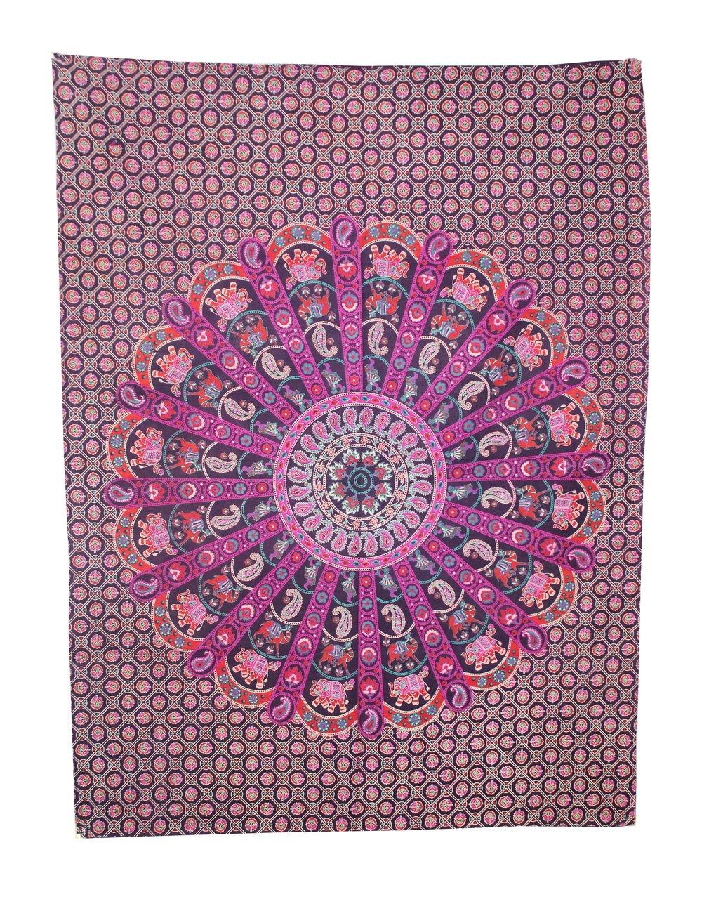 Handmade Art Twin Mandala Tapestry Hippie Wall Hanging Home Decor Wall Art Dorm Size 30x40 Inche.