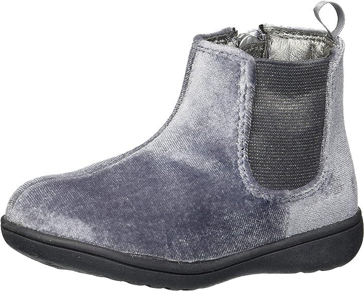 France2 Grey Velvet Boot Ankle