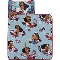 Disney Moana Feel The Waves Aqua, Coral & Violet with Pua Pig & Tropical Flowers Toddler Nap Mat, Aqua, Orange, Purple…