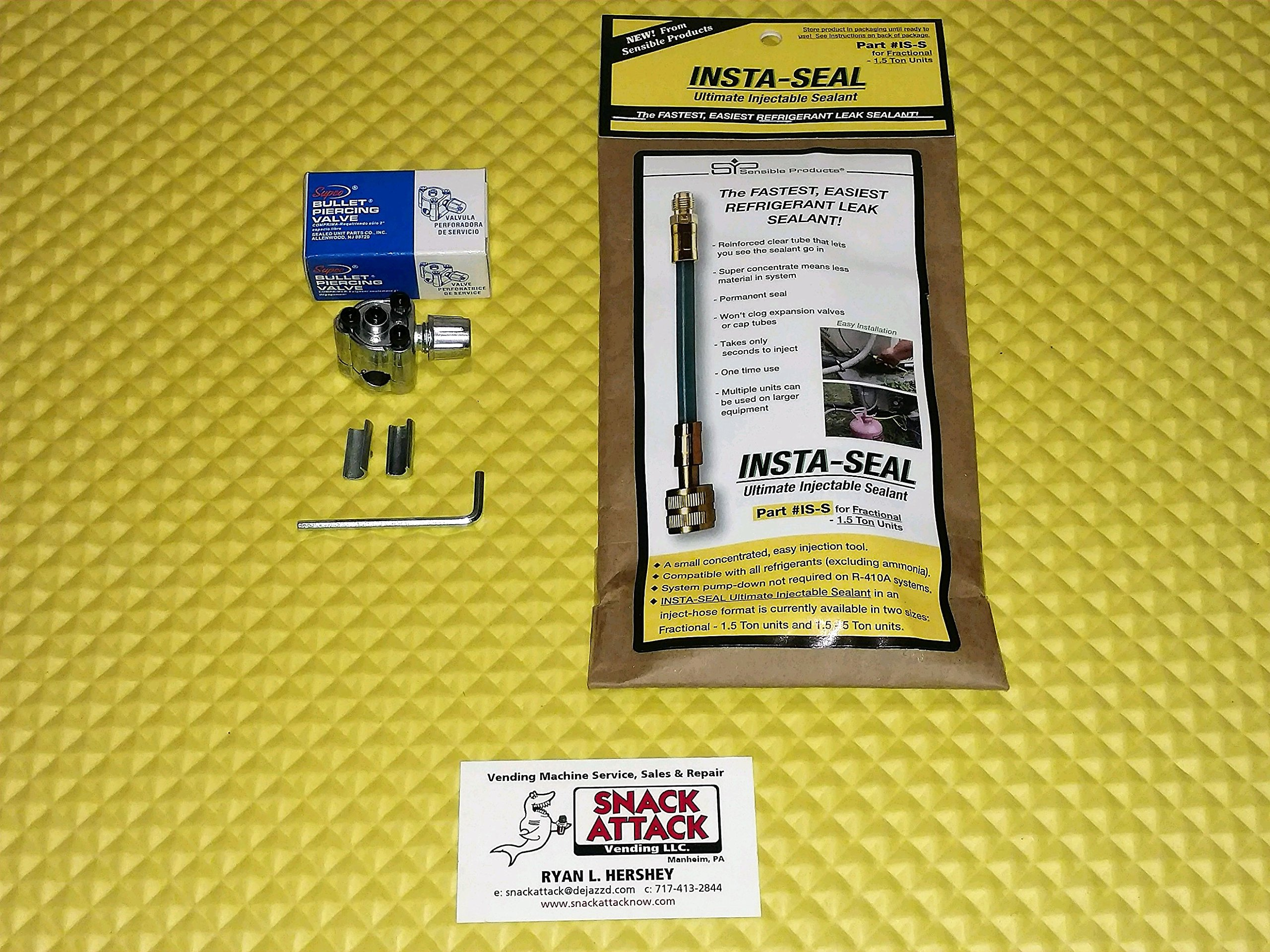DIXIE NARCO,VENDO,FSI&USI-Compressor INSTA - SEAL Ultimate Injectable Sealant!