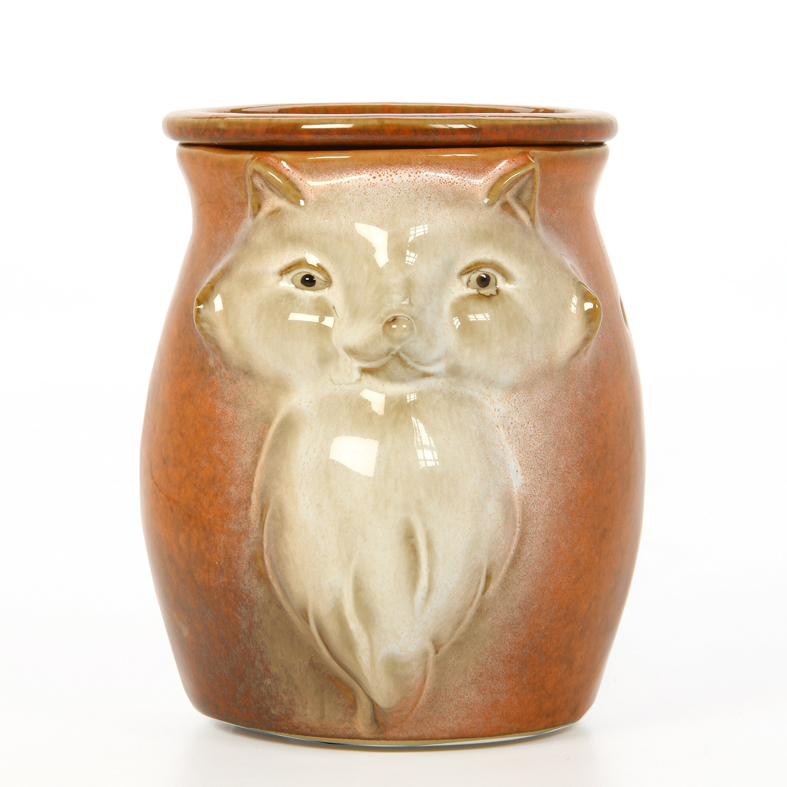 Hosley 5'' High Orange Woodland Animal Ceramic Electric Oil Warmer. Ideal Gift for Wedding, Spa and Aromatherapy. Use Brand Fragrance Oils, Essential Oils and Wax Melts/Cubes. P2