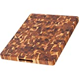 Teak Cutting Board - Rectangle Butcher Block With Hand Grip (20 x 15 x 1.5 in.) - By Teakhaus