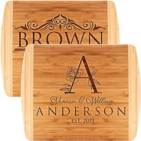 Wedding Gift Engraved Cutting Board Anniversary Gift Holiday Gift BBQ#023 Personalized Cutting Board Housewarming Gift