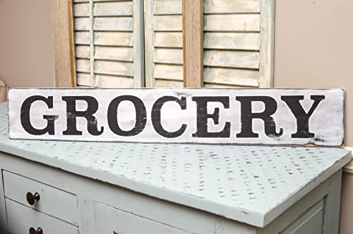 GROCERY sign  wooden sign  farmhouse style  kitchen decor  rustic  handmade  vintage decor