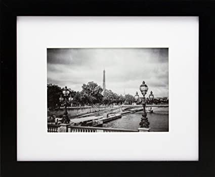 Amazon.com - 8x10 Black Gallery Picture Frame with 5x7 Inch Mat ...