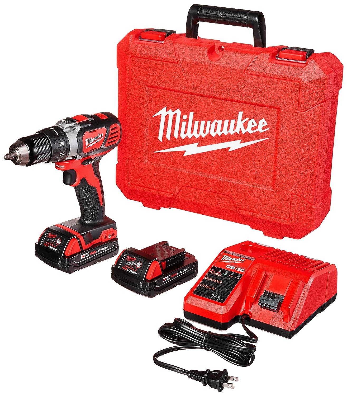 Milwaukee 2606-22CT M18 Cordless Drill Driver Kit, 18 V