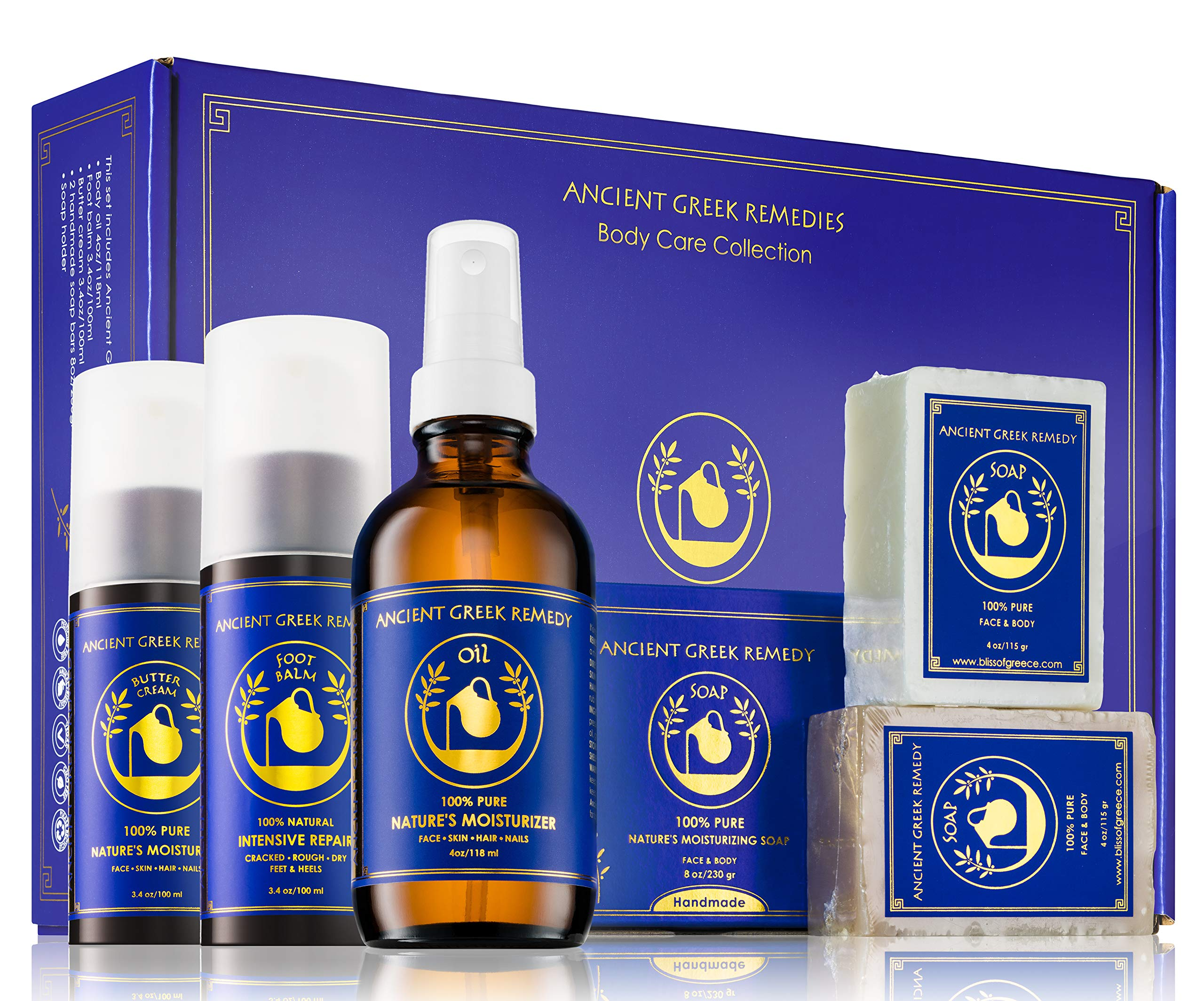 Ancient Greek Remedy Organic Spa Skin Care Gift Set, Perfect for Moms, Pregnancy, Daily Bath and Shower, Face and Body Care, and Post Cancer, Chemo Rejuvenation by Ancient Greek Remedy