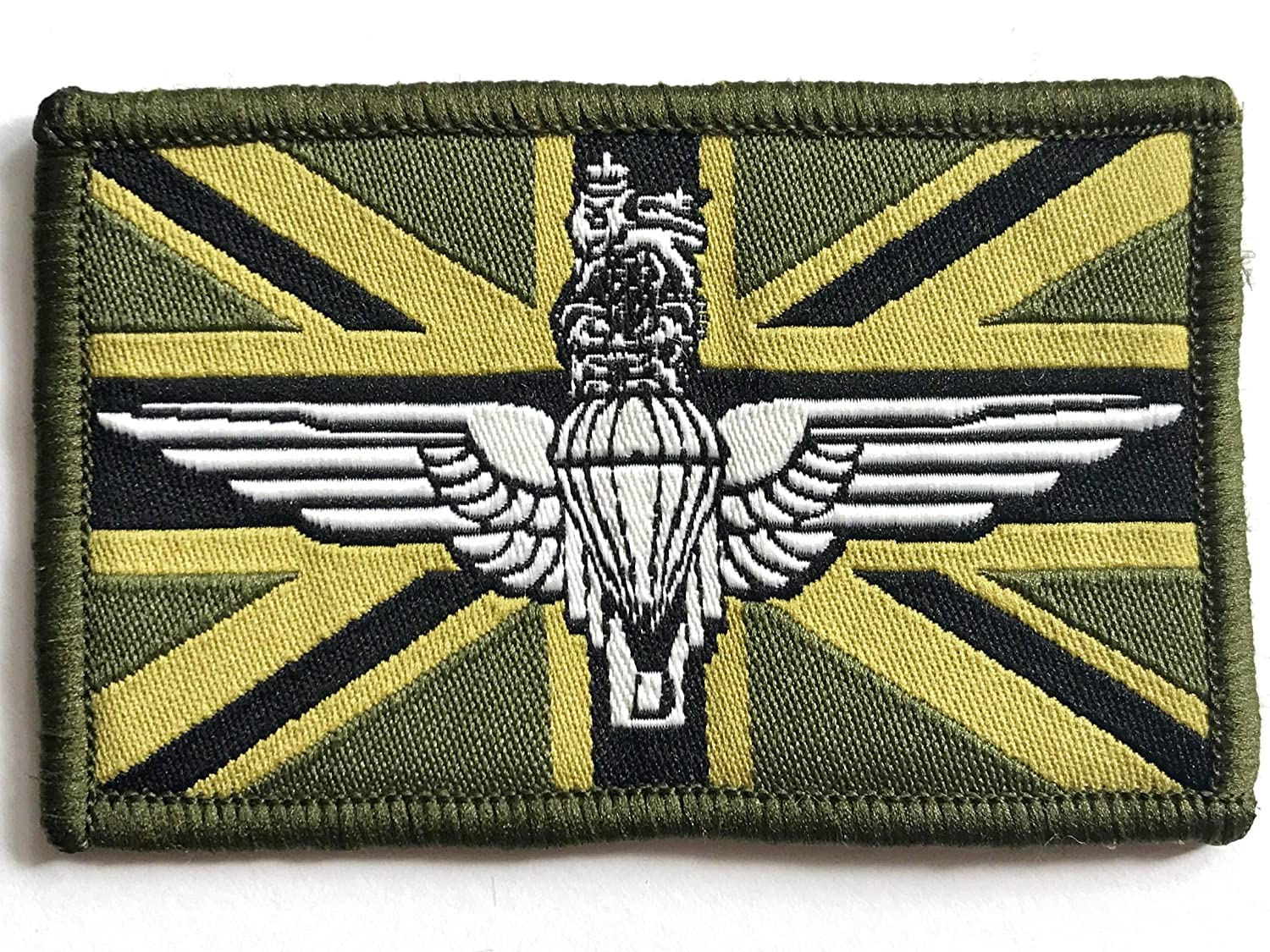 PARATROOPER UNION JACK PATCH sew on army olive military para