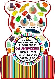Happy Yummies Worlds Best Tasting Gourmet Gummy Candy Shark Bag 14oz