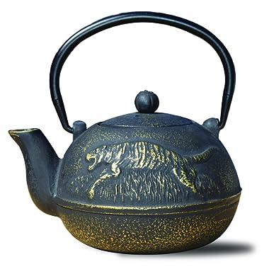 Old Dutch 1034MB Cast Iron  Tora  Teapot, 22 oz, Matte Black