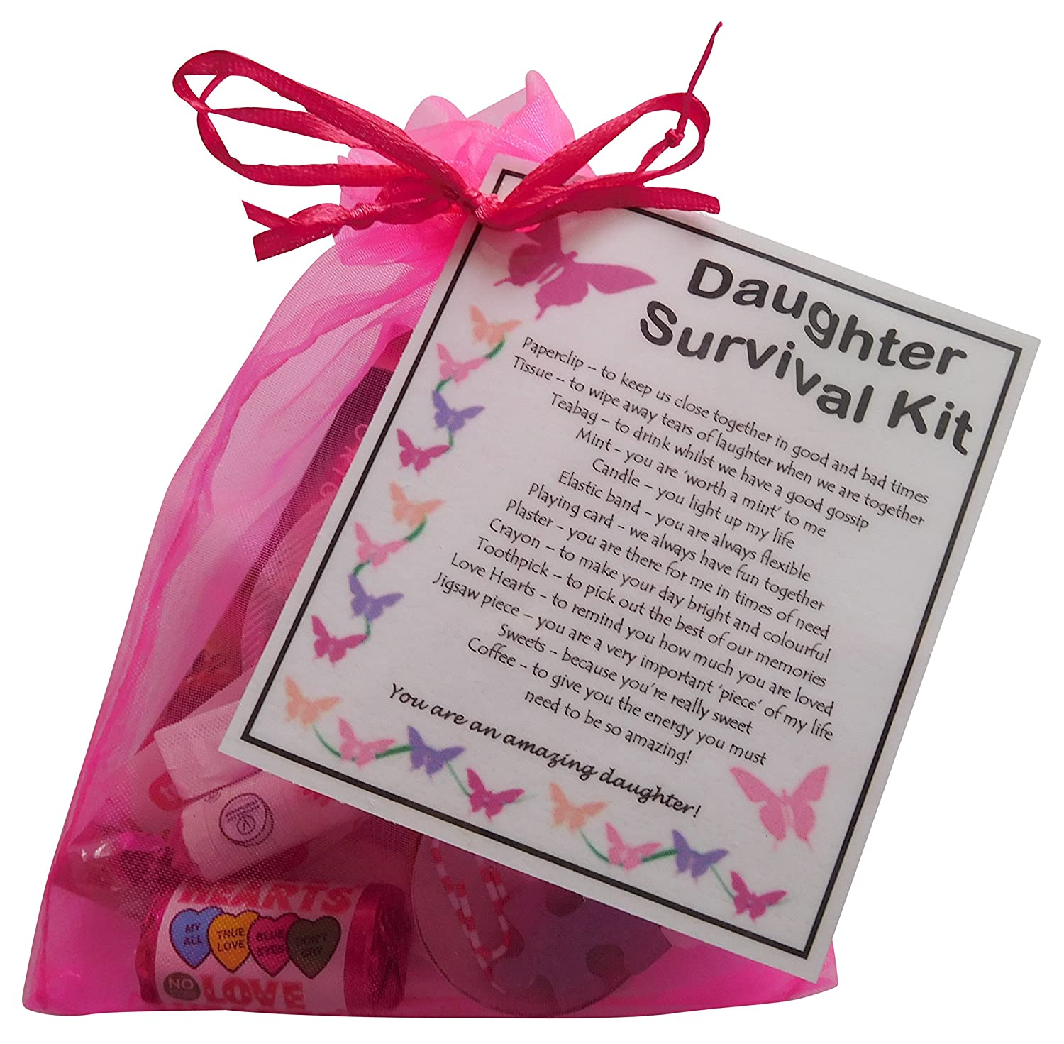 Daughter Survival Kit Gift Great Present For Birthday Christmas Or Just Because Amazonca Home Kitchen