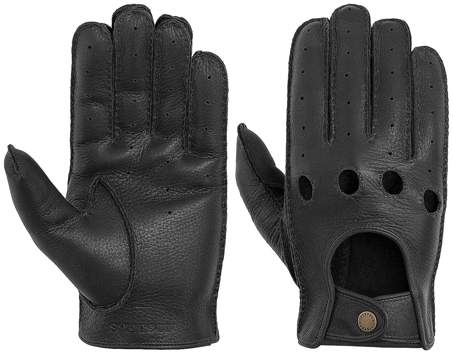 STETSON Lederhandschuhe mit Schurwolle Handschuhe Winterhandschuhe