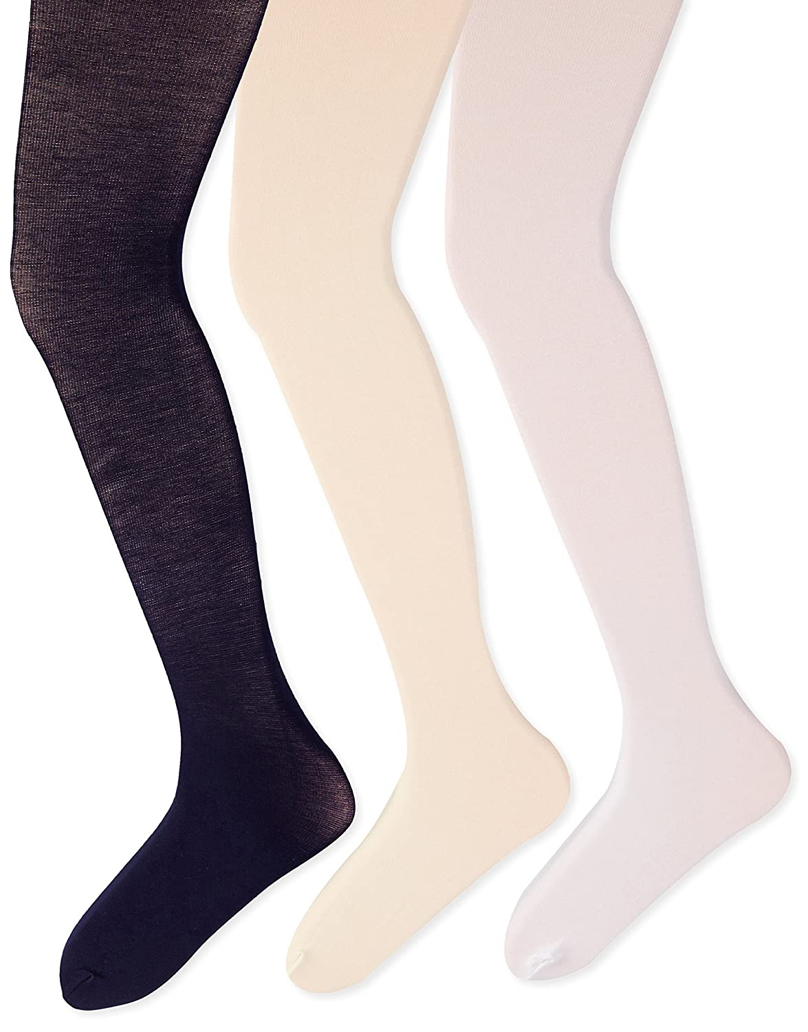 Country Kids Big Girls Pima Cotton Tights 3 Pairs T0053