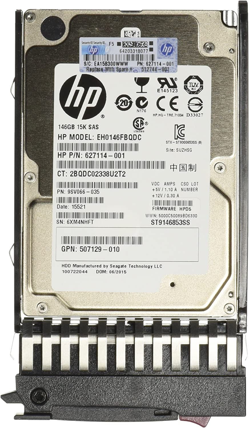 HP 146-GB 6G 15K 2.5 DP SAS HDD 146 SAS 16 MB Cache 2.5-Inch Internal Bare or OEM Drives 512744-001