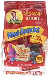 Sun Maid Raisins Mini Snacks 12 ct, Pack of 3