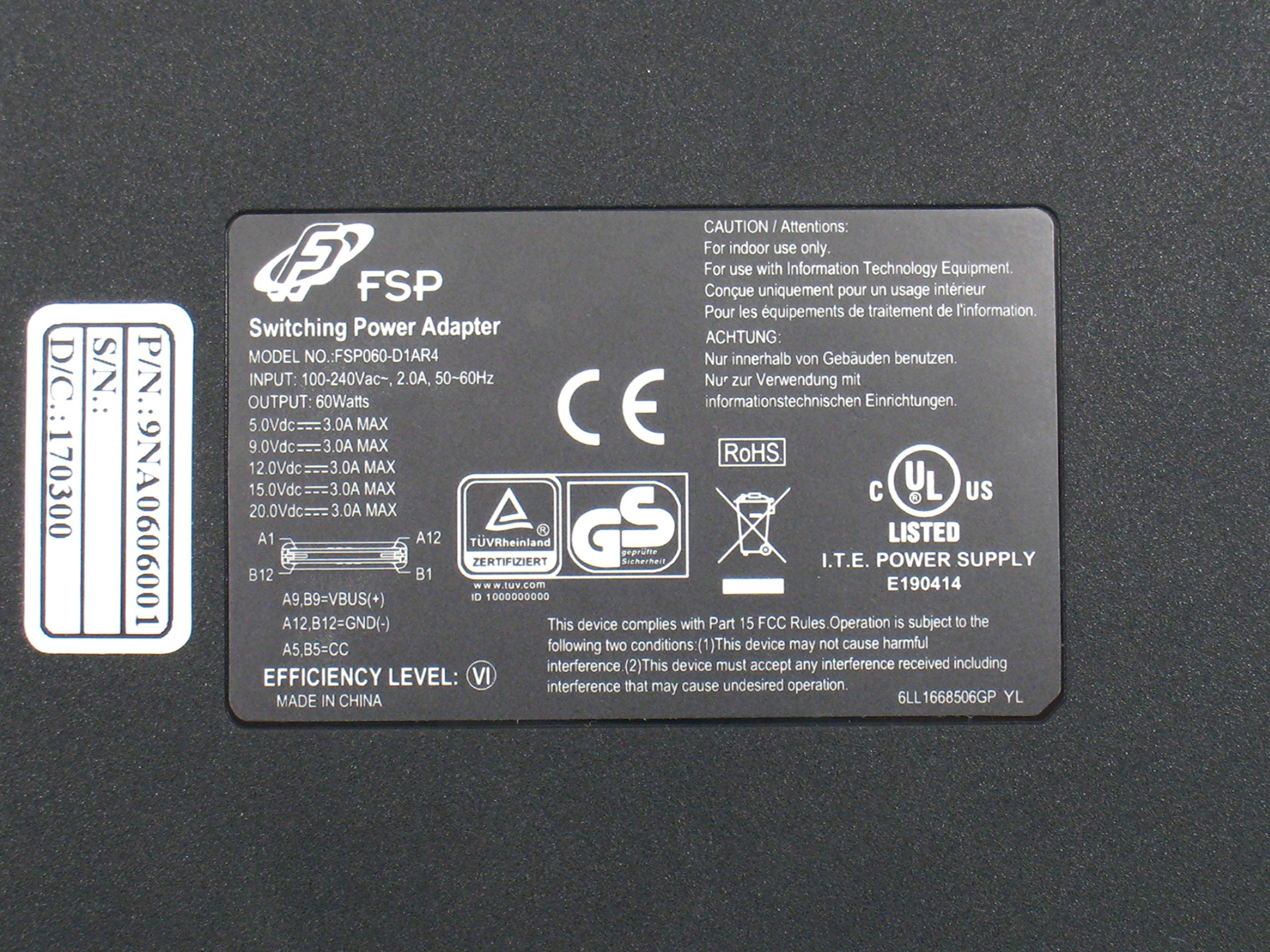 FSP USB-C PD 60W Slim/Compact Laptop Adapter for Macbook Pro 13'' (2015/16), HP Spectre X360/USB Type C Fast Charger for Samsung Galaxy, Google Pixel, Nintendo Switch and More (FSP060-D1AR4) by FSP (Image #5)
