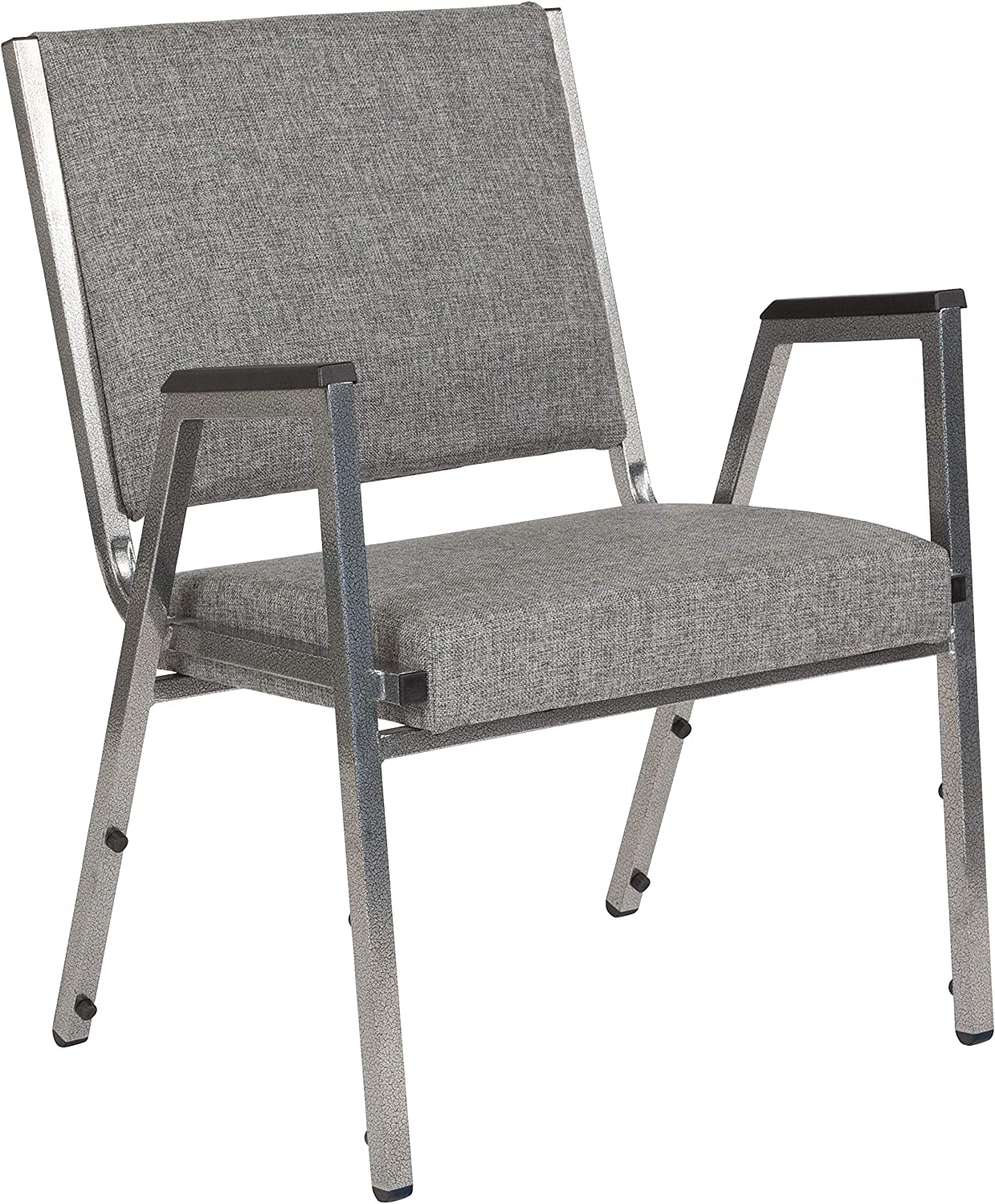 Flash Furniture HERCULES Series 1500 lb. Rated Gray Antimicrobial Fabric Bariatric Medical Reception Arm Chair