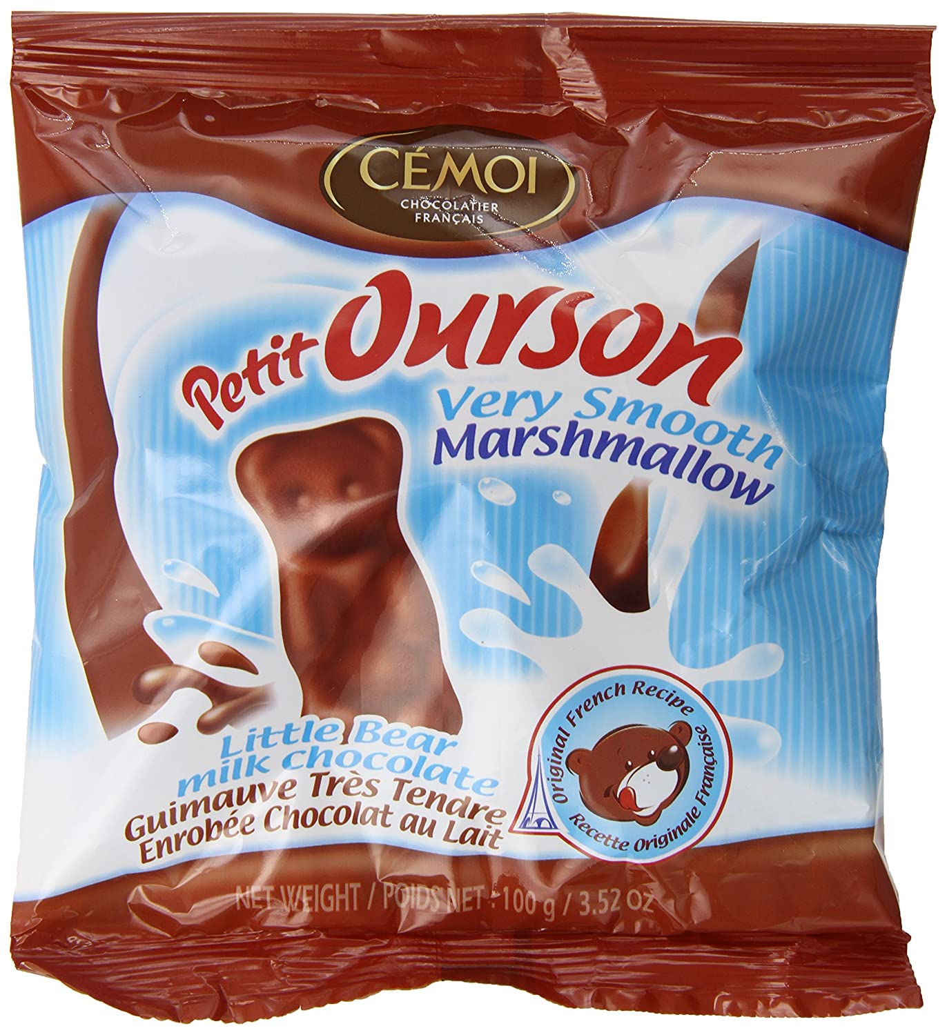 Amazon.com : Cemoi Petit Ourson Marshmallow Bag, Little Bear, 3.52 Ounce (Pack of 20) : Grocery & Gourmet Food