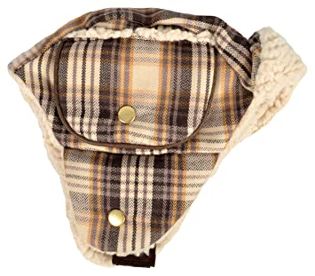 dab8c5819 Amazon.com : Woolrich Dakota Trapper Hat, Plaid, X-Large, Brown ...
