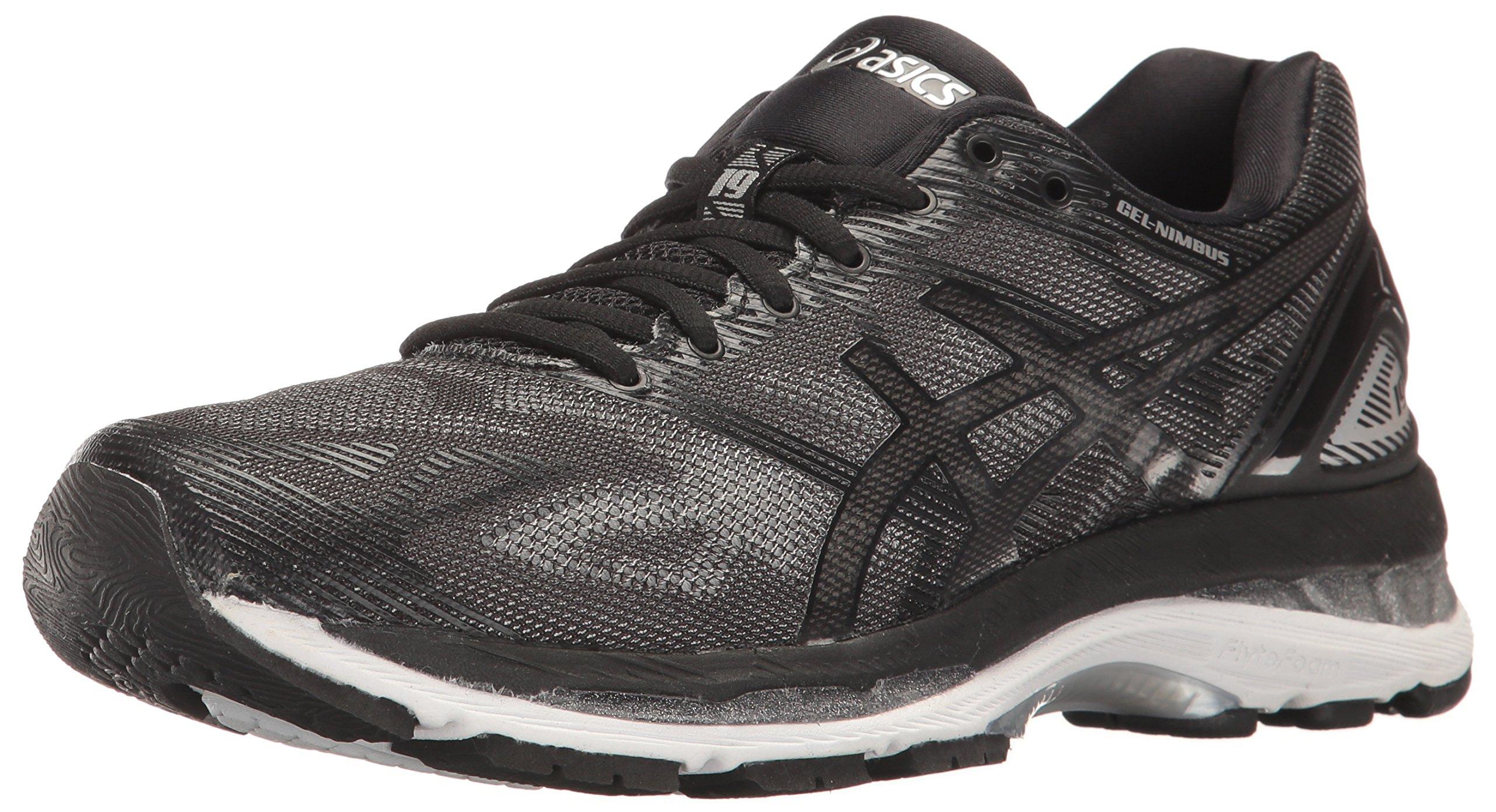 ASICS Women's Gel-Nimbus 19 Running Shoe, Black/Onyx/Silver, 8.5 M US