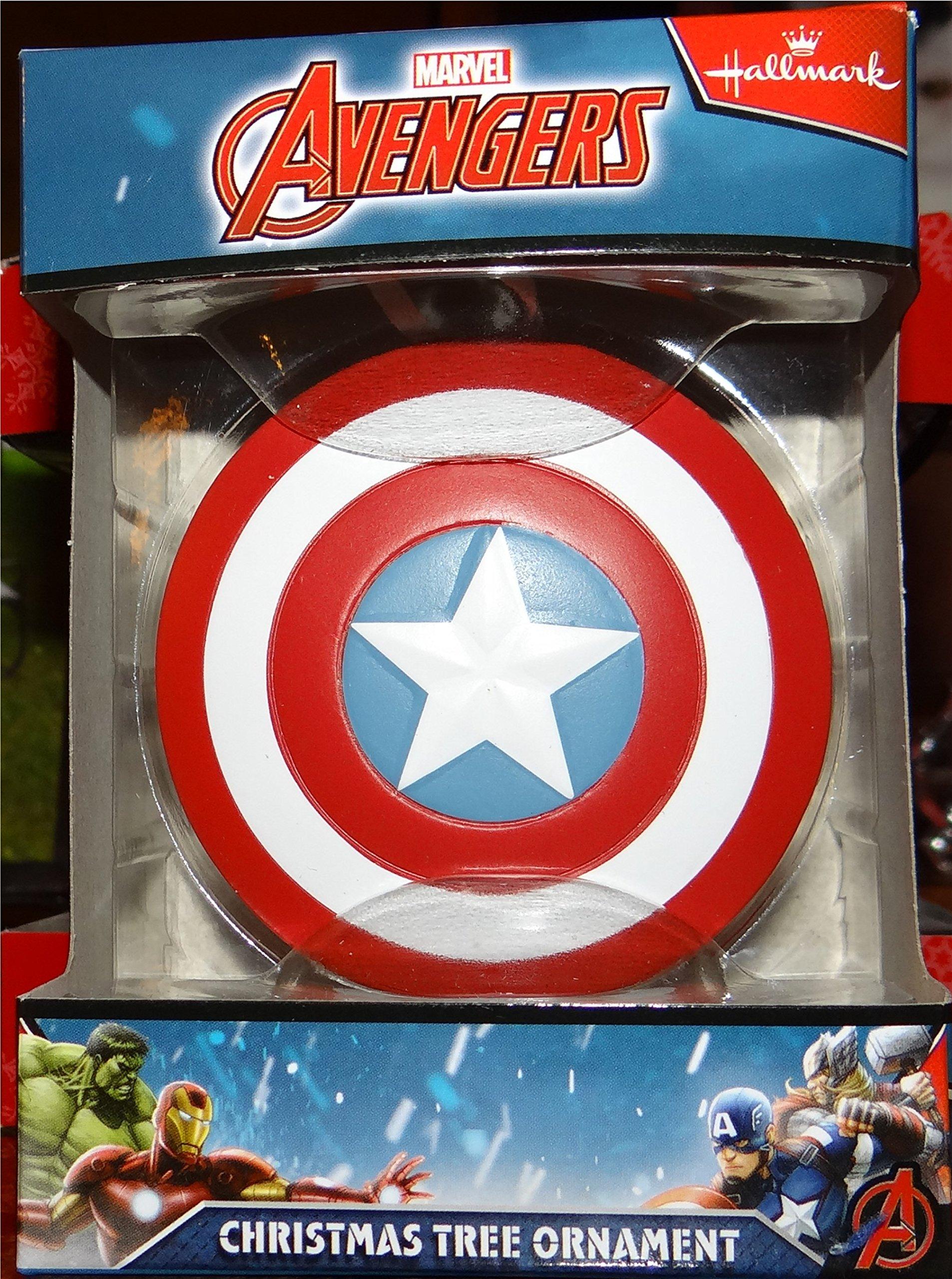 Hallmark Marvel Avengers Captain America Shield Ornament