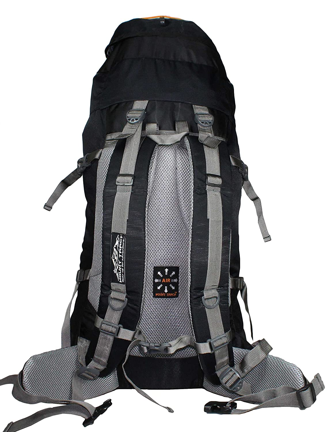 1af115ada2a90 Mount Track Gear Up 9111 60Ltrs Black Rucksack  Amazon.in  Bags ...