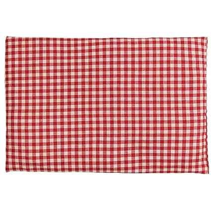 Saco térmico de semillas 30x20cm rojo y blanco | Almohada ...
