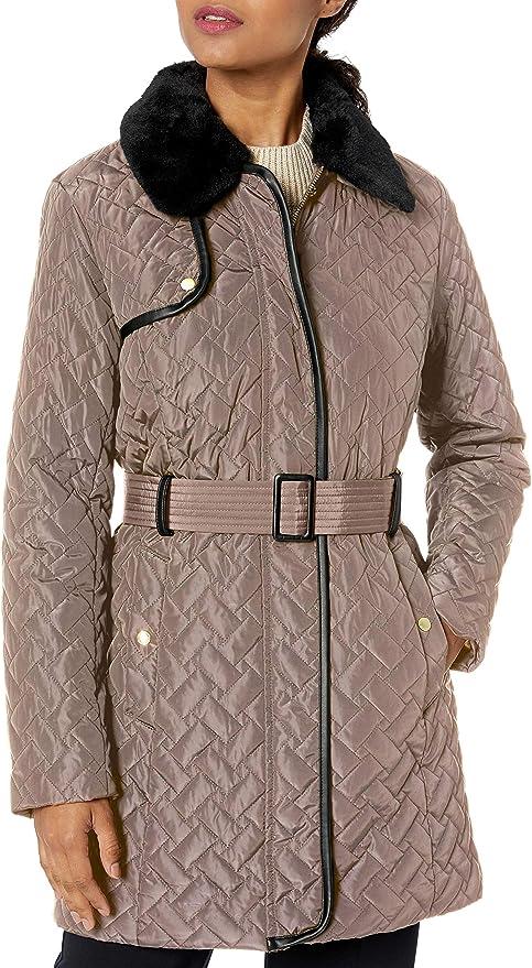Cole Haan 可汗 中长款女式保暖棉服夹克 M码1折$32.68 海淘转运到手约¥321