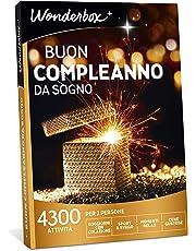 WONDERBOX Cofanetto Regalo Compleanno- Buon Compleanno da Sogno - 4300 attività per 2 Persone