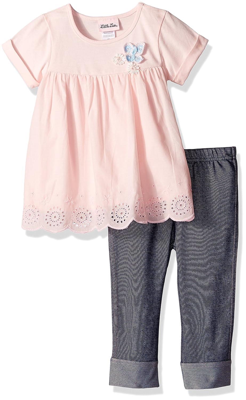 ccd91a2f3615 Amazon.com: Little Lass Baby Girls' Little 2 Pc Capri Set Crochet Lace:  Clothing