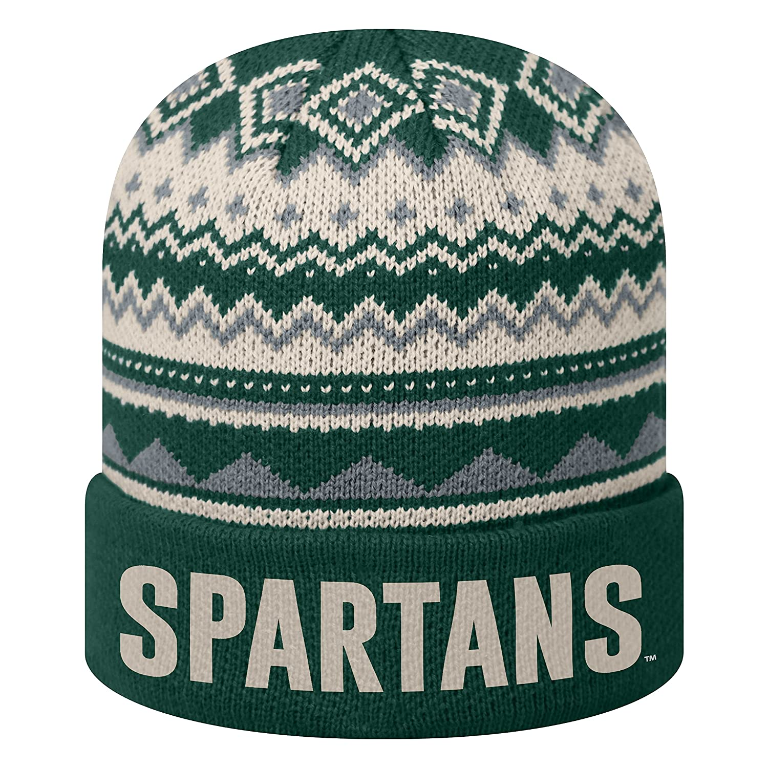 4df95d64bb5 Amazon.com   Top of the World Michigan State Spartans Official NCAA Cuffed  Knit Dusty Beanie Hat 090658   Sports   Outdoors
