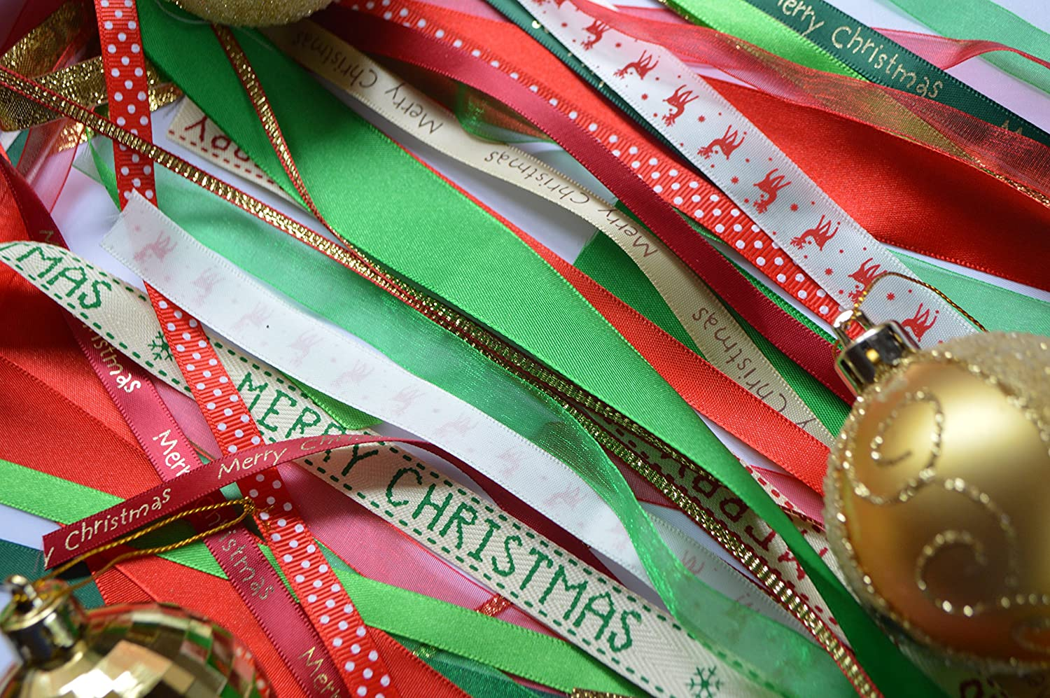 Christmas Ribbon.Christmas Ribbon Bundle 15 X 1 Meter Lengths Festive Themed Ribbons Exclusive From The Cut Sew Company