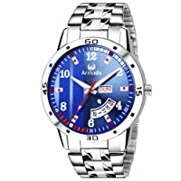 Armado Day and Date Exclusive Analogue Men's Watch(Blue Dial, AR-104-BLU)