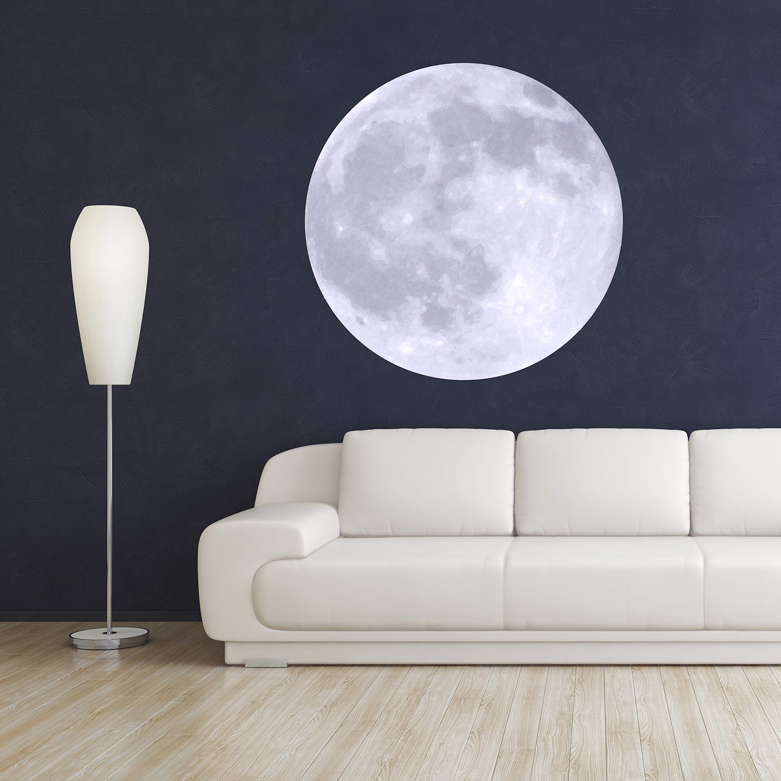 Moon Wall Decal Room Decor - Bedroom Wall Stickers - Moon Removable Wallpaper - Moon Wall Mural Vinyl Art Décor Sticker (36'' x 36'')