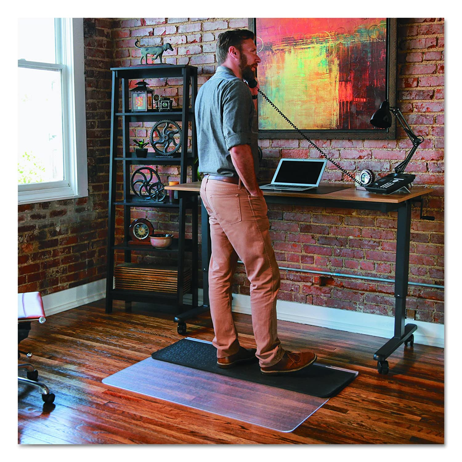 amazon com es robbins sit or stand mat for carpet or hard floors